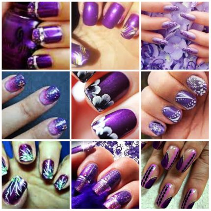 Purple Nail Art Tumblr Graceful N Gorgeous